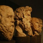 Statues of Greek philosophers who know a lot about the benefits of having a life philosophy.